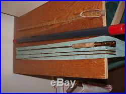 Very Rare Vintage Courtney Riley Cooper 2/2 6 1/2' Bamboo Fly Rod w. Case