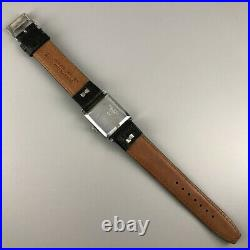 Very Rare! Vintage Seiko Rectangle Case Sub-Second Hand-winding Watch Japan #505