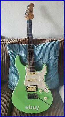 Very rare 1994 Yamaha PAC 604 in seafoam green with case. Px small body elec acc