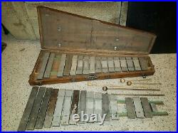 Very rare Antique Xylophone In Case music bells instrument keys bars