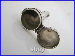 Very rare Charles II silver thimble and needle case, London c1680