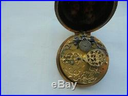 Very rare pre hairspring gold and painted case thomass arnolts hamburg 1650s