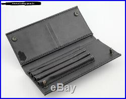 Very rare vintage Rotring 600 Pen Pouche / Leather Case for 4 Pens in Black