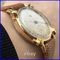 Vintage Benrus Pointer Date Manual Watch Knotted Lugs Fancy Case Very Rare