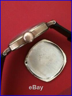 Vintage Longines, cushion case, gold filled, manual Cal. 1292, Very rare