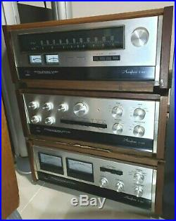 Vintage MINT Legendary Accuphase T-100 stereo tuner very rare wood case