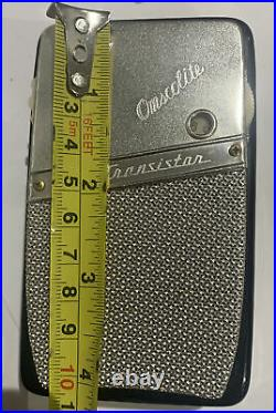 Vintage Omscolite 6 Transmiter radio W Case Very Rare Great condition Works