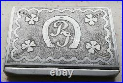 WW2 GERMAN OFFICER CIGARETTE CASE trench art BEAUTIFUL VERY RARE